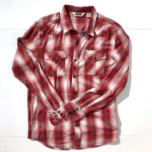 Men's Salt Valley Pearl Snap Western Shirt sz L